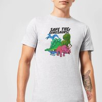 Save The Dinosaurs Men's T-Shirt - Grey - L - Grey from The Dinosaur Collection