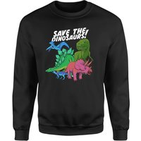 Save The Dinosaurs Sweatshirt - Black - M - Black from The Dinosaur Collection