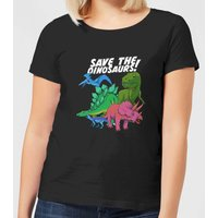 Save The Dinosaurs Women's T-Shirt - Black - S - Black from The Dinosaur Collection