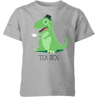 Tea Rex Kids' T-Shirt - Grey - 7-8 Years - Grey from The Dinosaur Collection
