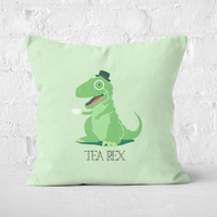 Tea Rex Square Cushion - 60x60cm - Soft Touch from The Dinosaur Collection