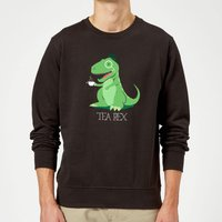 Tea Rex Sweatshirt - Black - M - Black from The Dinosaur Collection