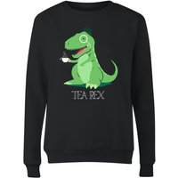 Tea Rex Women's Sweatshirt - Black - L - Black from The Dinosaur Collection