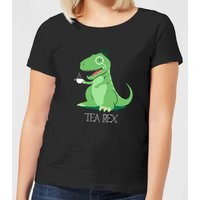 Tea Rex Women's T-Shirt - Black - L - Black from The Dinosaur Collection