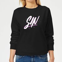 Gin Script Women's Sweatshirt - Black - 5XL - Black from The Mother Collection