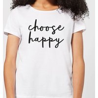 The Motivated Type Choose Happy Women's T-Shirt - White - S - White from The Motivated Type
