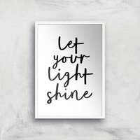 The Motivated Type Let Your Light Shine Giclee Art Print - A2 - White Frame from The Motivated Type