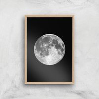 The Motivated Type Single Moon Giclée Art Print - A2 - Wooden Frame from The Motivated Type