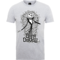 The Nightmare Before Christmas Jack Skellington Bone Daddy Grey T-Shirt - XXL - Grey from The Nightmare Before Christmas
