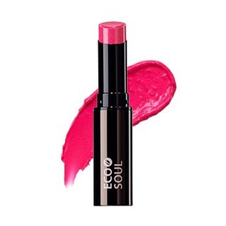 The Saem - Eco Soul Moisture Shine Lipstick (#PF01 Pink) from The Saem