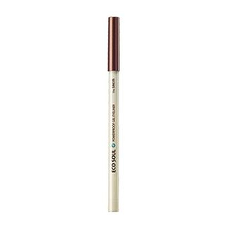The Saem - Eco Soul Waterproof Gel Eyeliner (#18 Bronze Brown) from The Saem