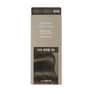 The Saem - Silk Hair Color Cream (Dark Brown): Hairdye 50g + Oxidizing Agent 50g from The Saem
