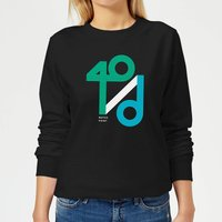 40 / d Match Point Women's Sweatshirt - Black - XS - Black from The Tennis Collection