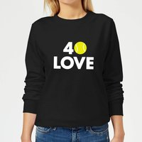 40 Love Women's Sweatshirt - Black - XS - Black from The Tennis Collection