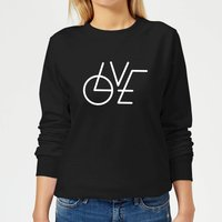 LOVE Modern Women's Sweatshirt - Black - XS - Black from The Valentines Collection
