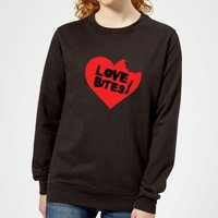 Love Bites Women's Sweatshirt - Black - XS - Black from The Valentines Collection