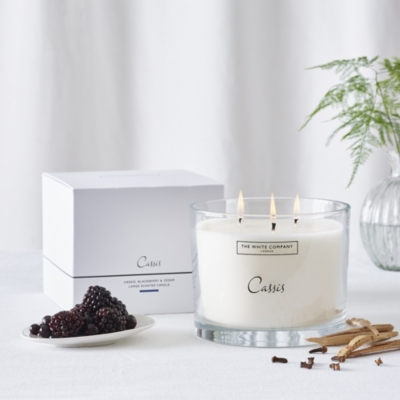 Cassis Large Candle from The White Company