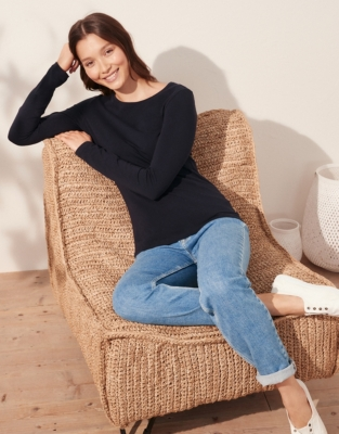 Essential Long Sleeve T-Shirt from The White Company
