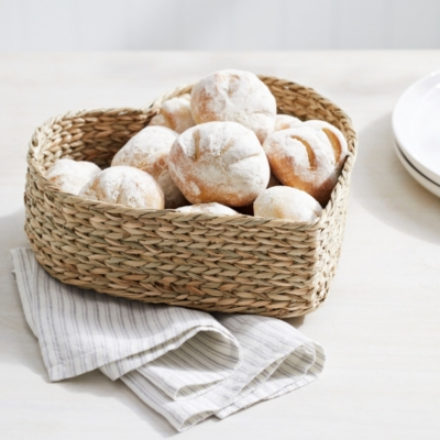 Seagrass Heart Bread Basket from The White Company