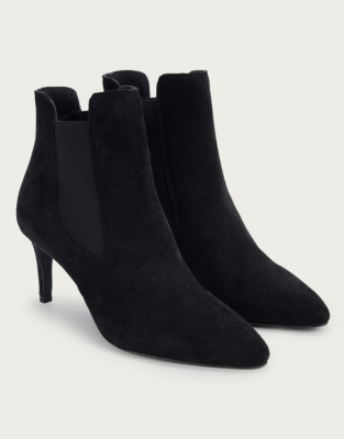 Suede Kitten Heel Boots from The White Company