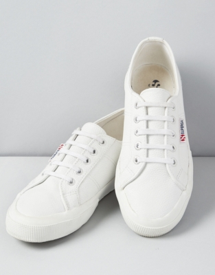 Superga Leather Sneakers from The White Company