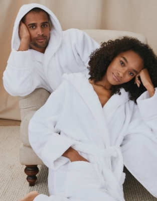 Unisex Hydrocotton Hooded Robe from The White Company