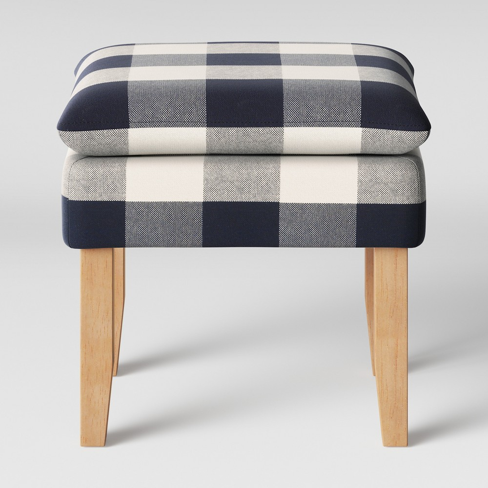Buffalo Plaid Stool Blue - Threshold from Threshold