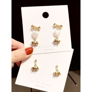 925 Sterling Silver Piggy Drop Earring from Ticoo