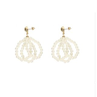 Faux-Pearl Drop Earring from Ticoo
