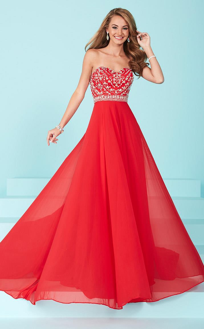 Tiffany Designs - 16221 Delicately Embellished Sweetheart A-Line Evening Gown from Tiffany Designs