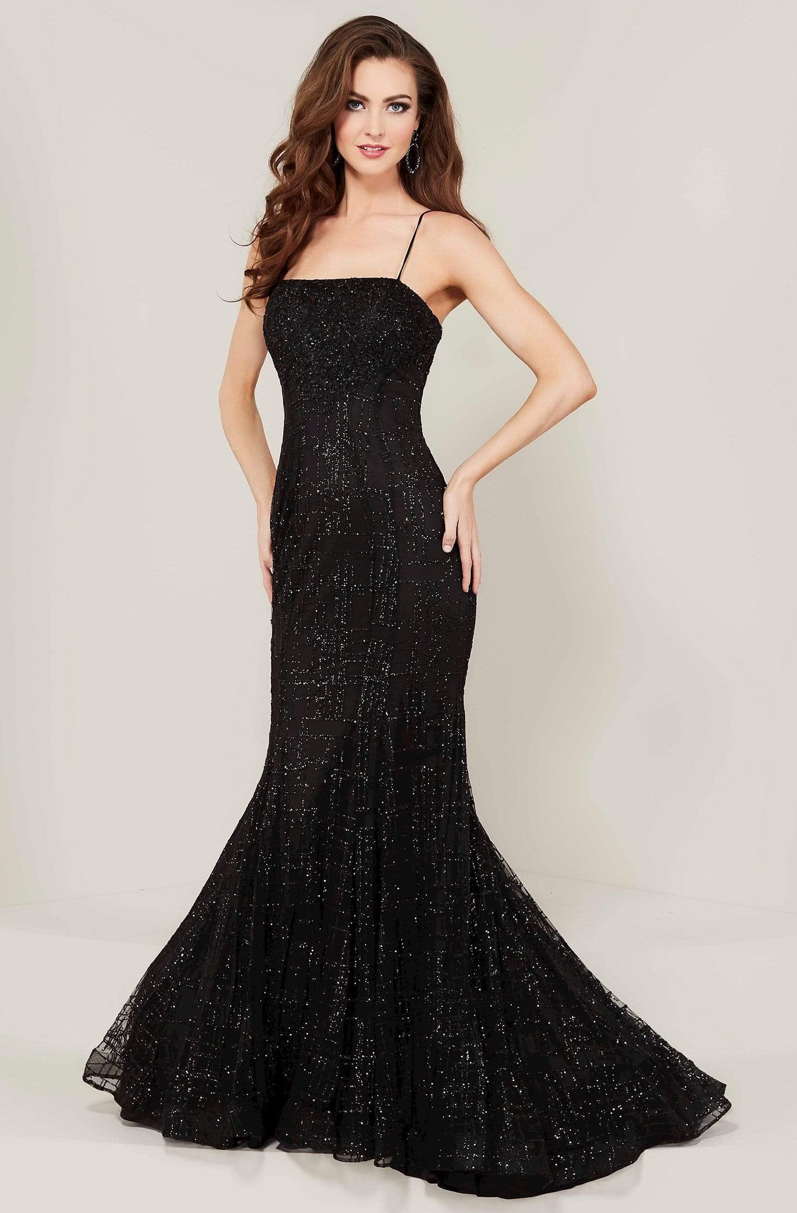 Tiffany Designs - 16339 Strapless Evening Gown with Overlay from Tiffany Designs