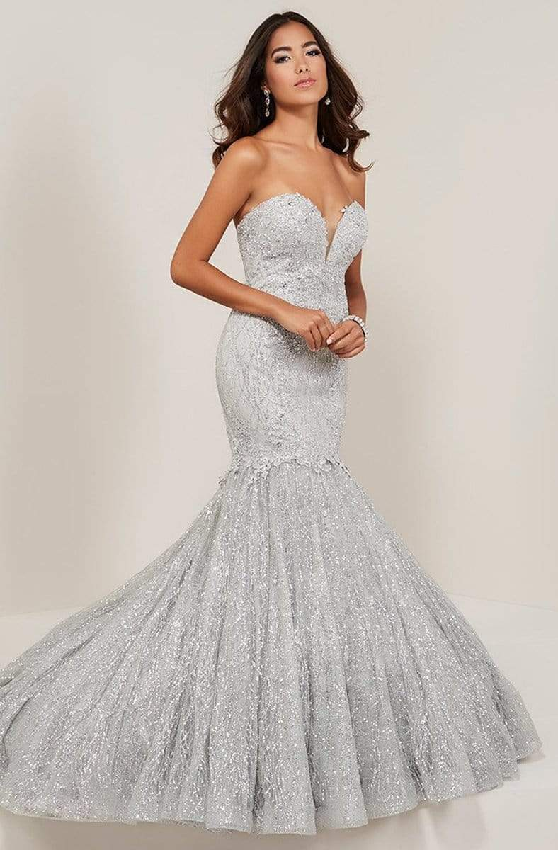 Tiffany Designs - 16343 Sweetheart Neckline Sparkle Tulle Mermaid Gown from Tiffany Designs