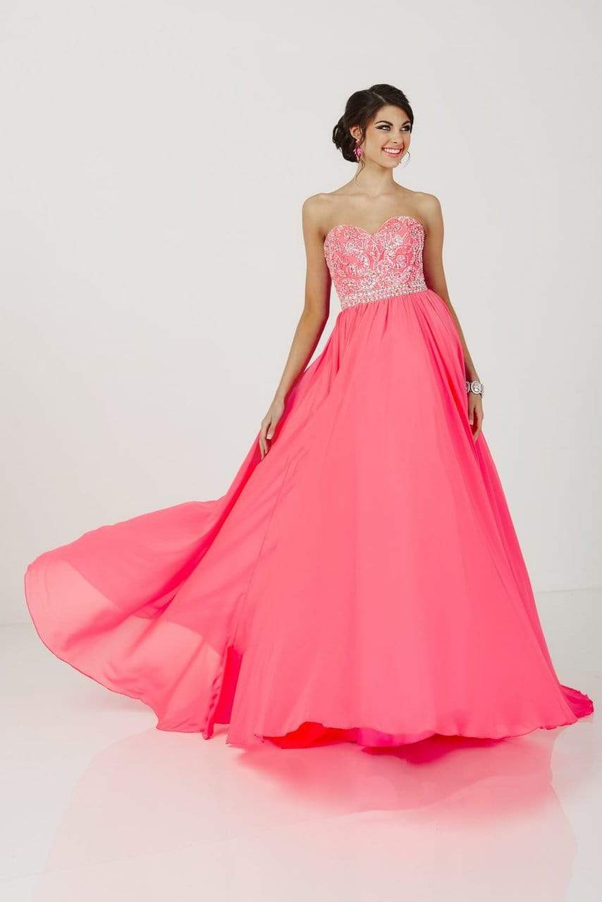 Tiffany Designs - 46050 Shimmering Sweetheart A-Line Chiffon Evening Gown from Tiffany Designs