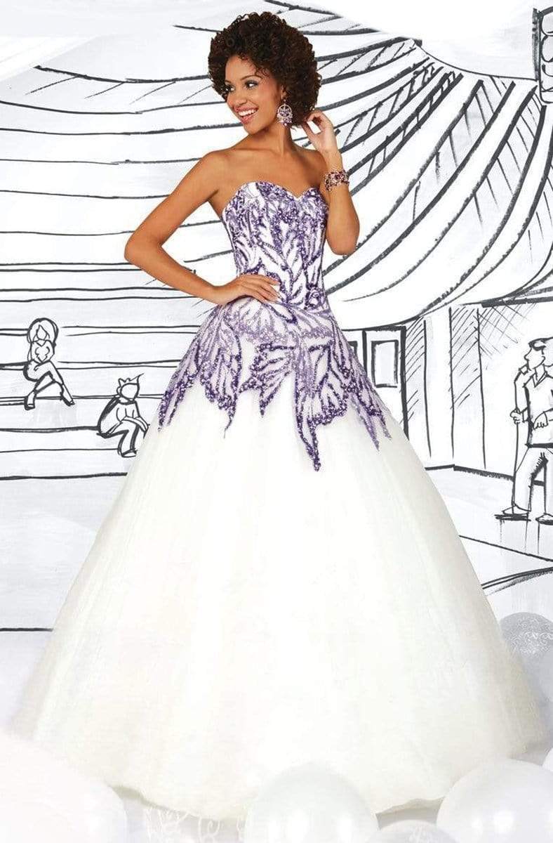 Tiffany Designs - 61113 Strapless Embellished Ballgown from Tiffany Designs