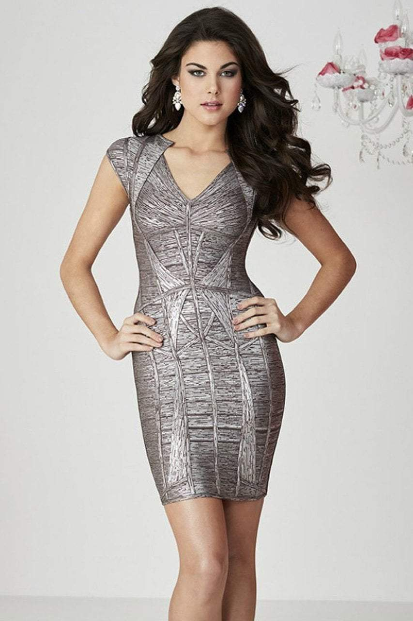 Tiffany Homecoming - 27106 Exceptional Geometric Bandage Sheath Cocktail Dress from Tiffany Homecoming