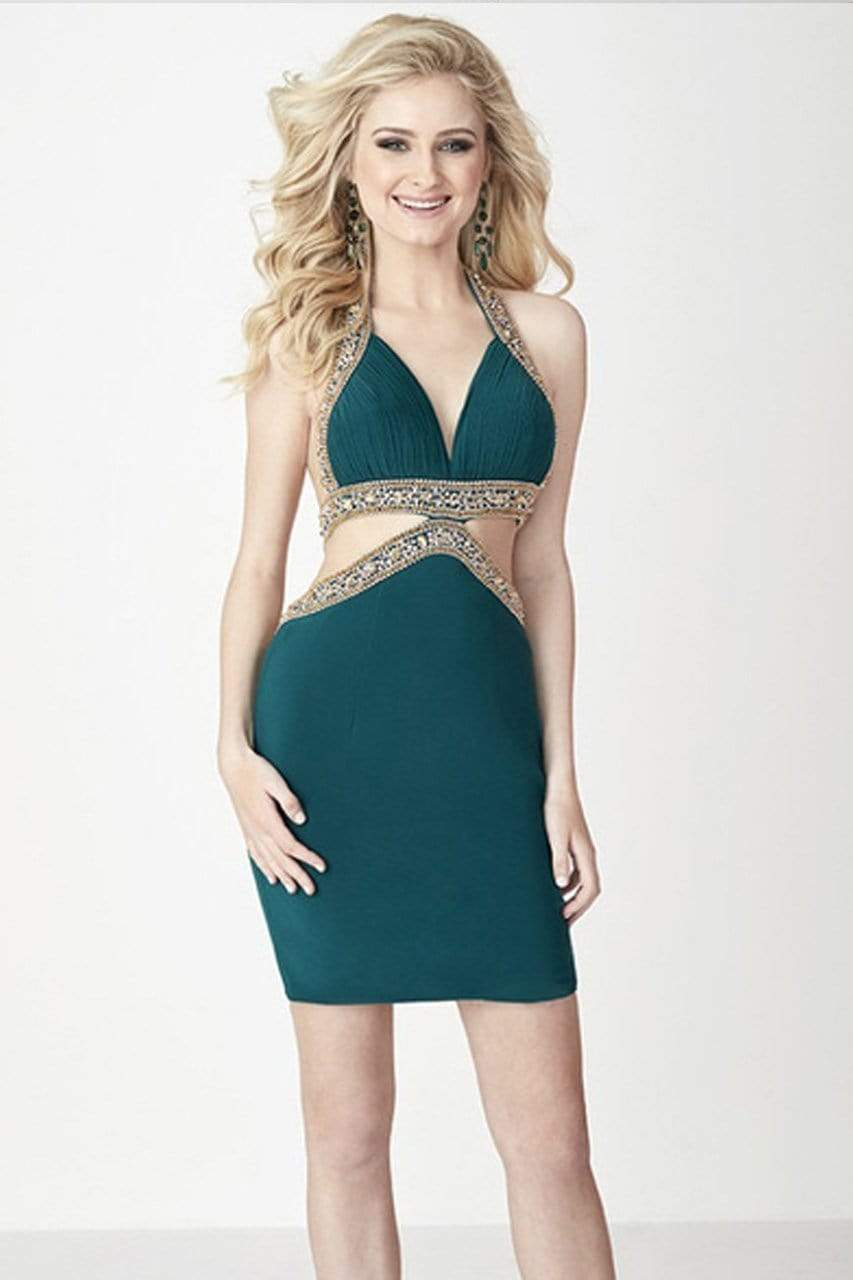 Tiffany Homecoming - 27122 Sexy Halter Side Cutout Dress from Tiffany Homecoming