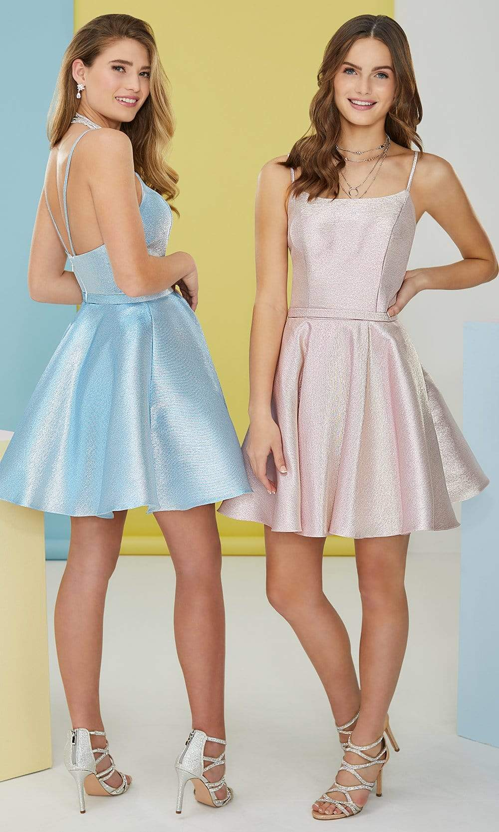 Tiffany Homecoming - 27298 Metallic Scoop A-Line Dress from Tiffany Homecoming