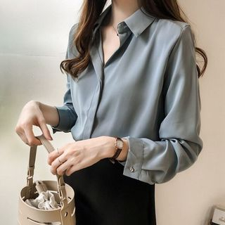 Long-Sleeve Chiffon Blouse from Tiny Times