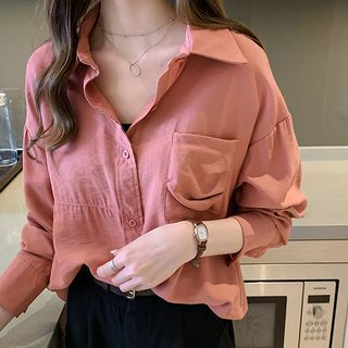 Plain Long-Sleeve Shirt from Tiny Times