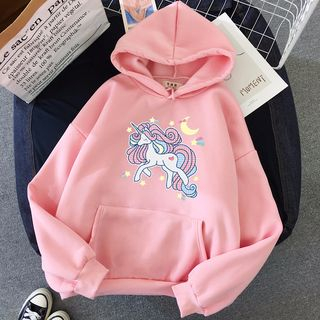 Unicorn Print Hoodie from Tiny Times