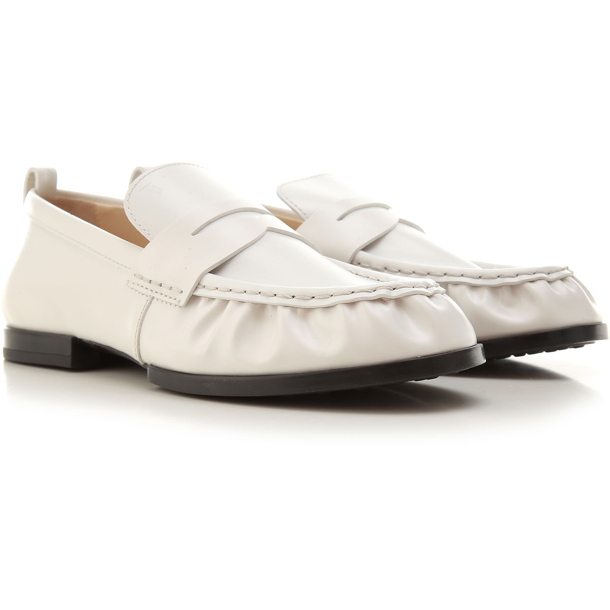 Tods Loafers for Women, White, Leather, 2021, 10 6 8 9 from Tods