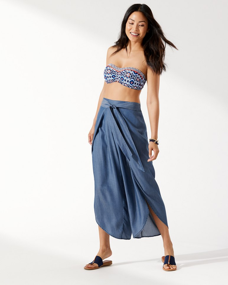 Chambray Wrap-Front Beach Pants from Tommy Bahama