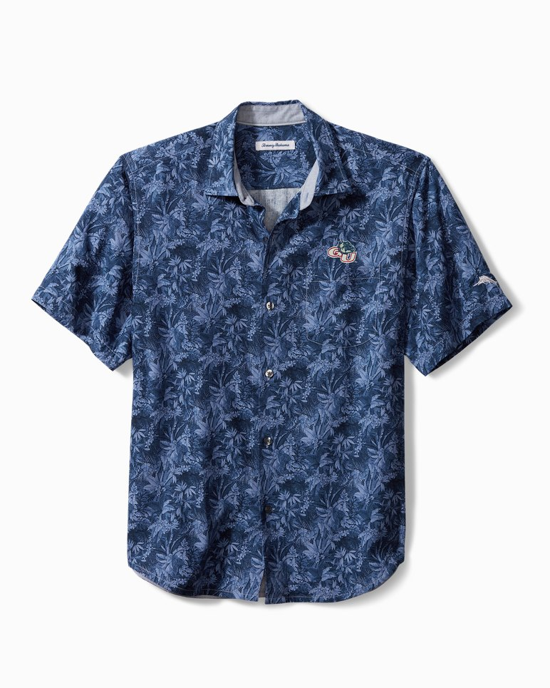 Collegiate Jungle Shade Silk Camp Shirt from Tommy Bahama