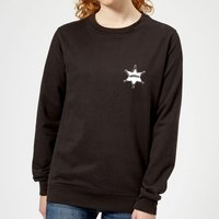 Toy Story Sheriff Woody Badge Women's Sweatshirt - Black - XS - Black from Toy Story