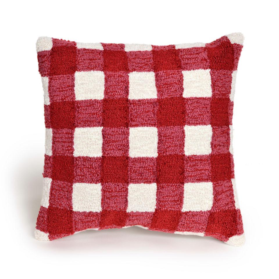 Trans-Ocean Imports 7FP8S424924 Frontporch Collection Red Finish Pillow from Trans-Ocean