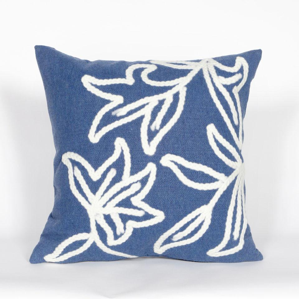 Trans-Ocean Imports 7SA2S307603 Visions I Collection Blue Finish Pillow from Trans-Ocean
