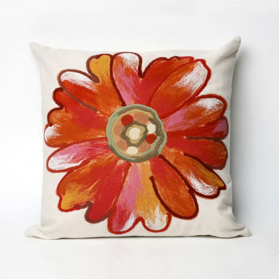 Trans-Ocean Imports 7SC2S314917 Visions Iii Collection Orange Finish Pillow from Trans-Ocean