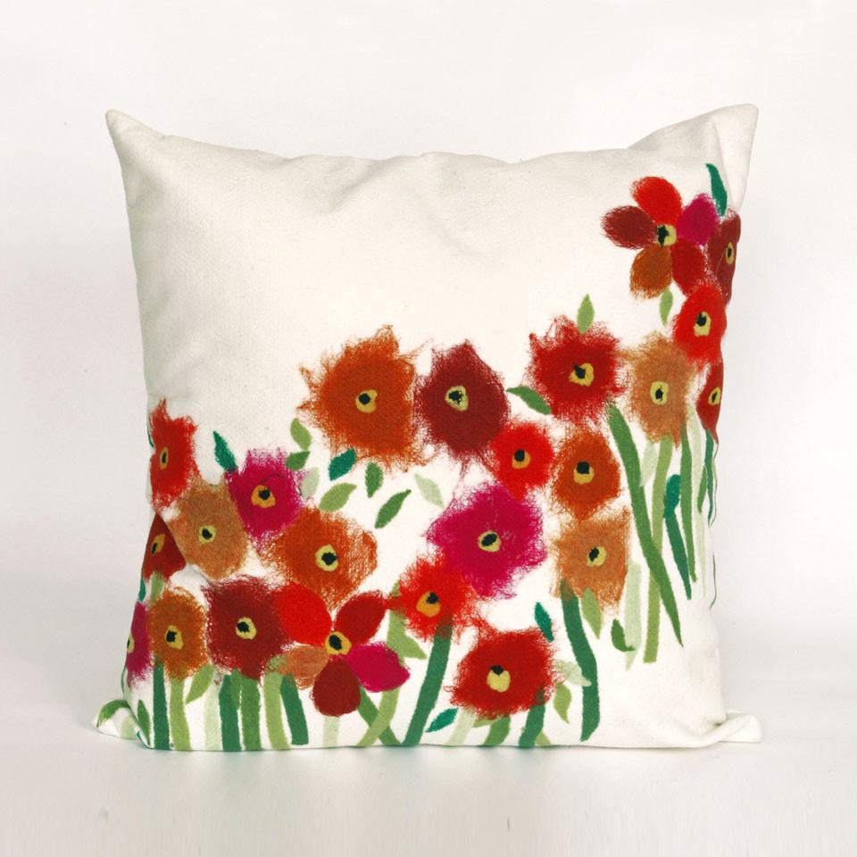 Trans-Ocean Imports 7SC2S320924 Visions Iii Collection Red Finish Pillow from Trans-Ocean