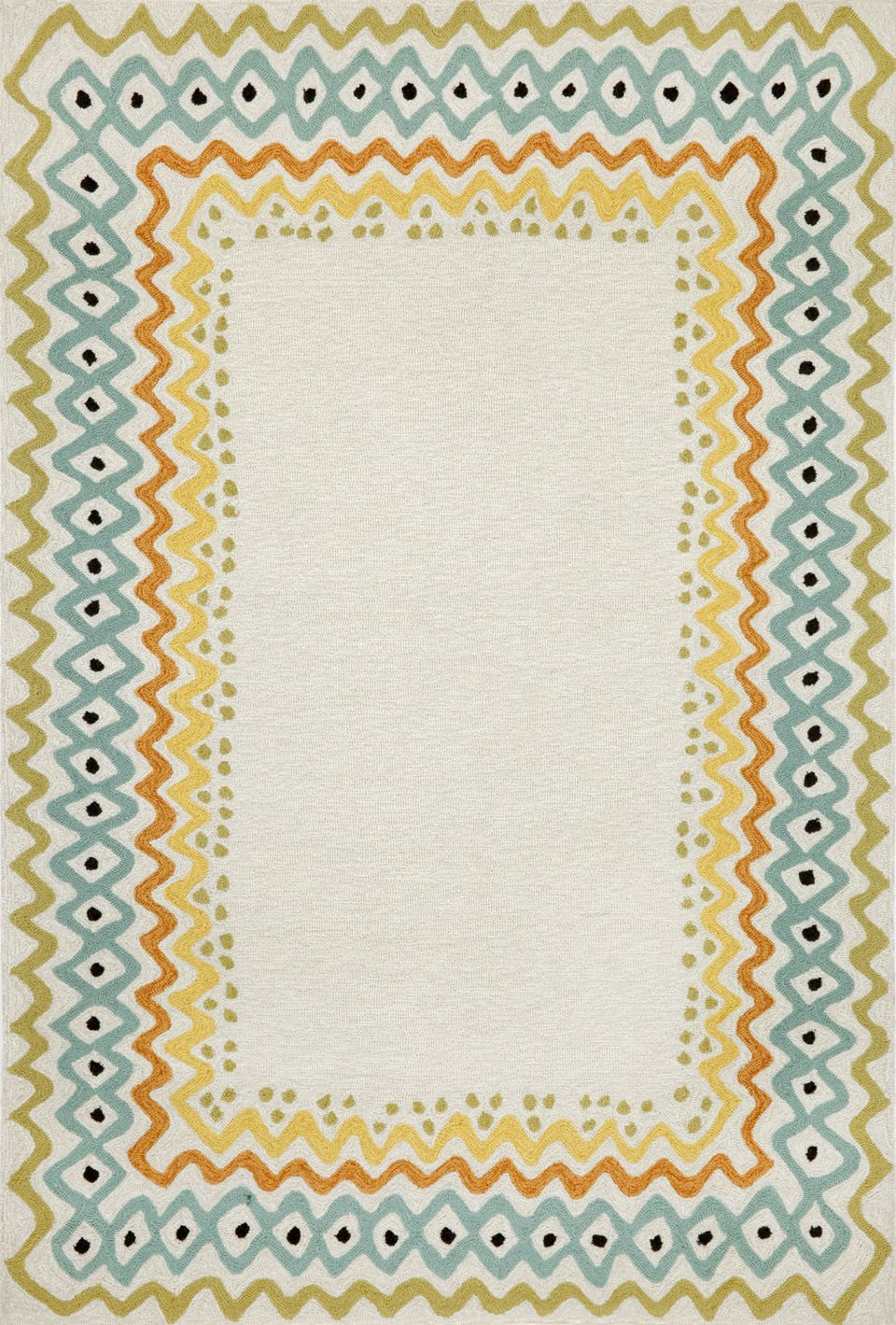 Trans-Ocean Imports CAP71160712 Capri Collection Natural Finish Everywear Rug from Trans-Ocean