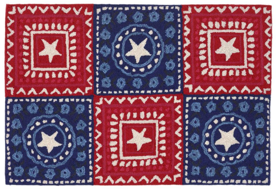 Trans-Ocean Imports FTP12180614 Frontporch Collection Red Finish Everywear Rug from Trans-Ocean